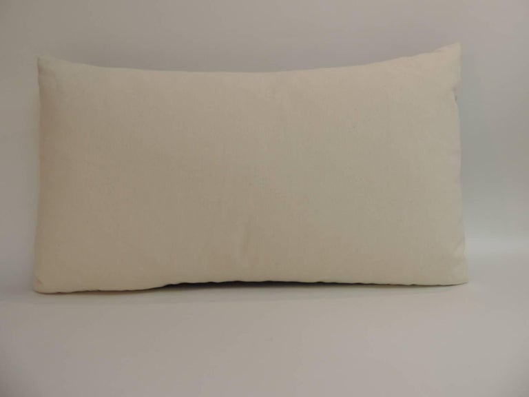 Vintage Blue Stripes Linen Bolster Decorative Pillow For Sale at 1stdibs