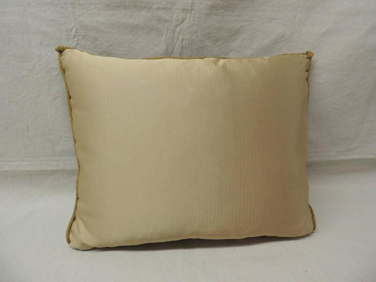 Decorative Pillow Trim : 18th Century Verdure Tapestry Decorative Pillow with Antique Trim at 1stdibs