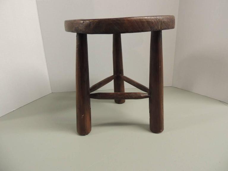3 Legged Wooden Stool ~ Vintage wood tripod three legged stool at stdibs