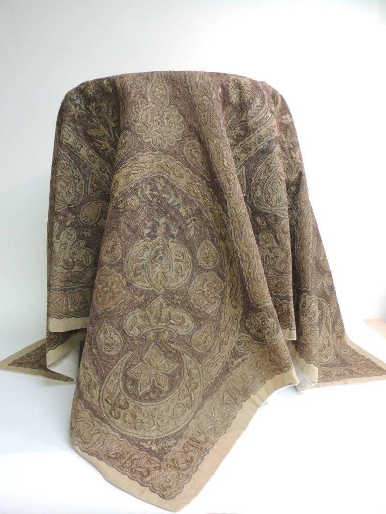 Islamic Turkish Ottoman Empire Metallic Embroidery Cloth For Sale