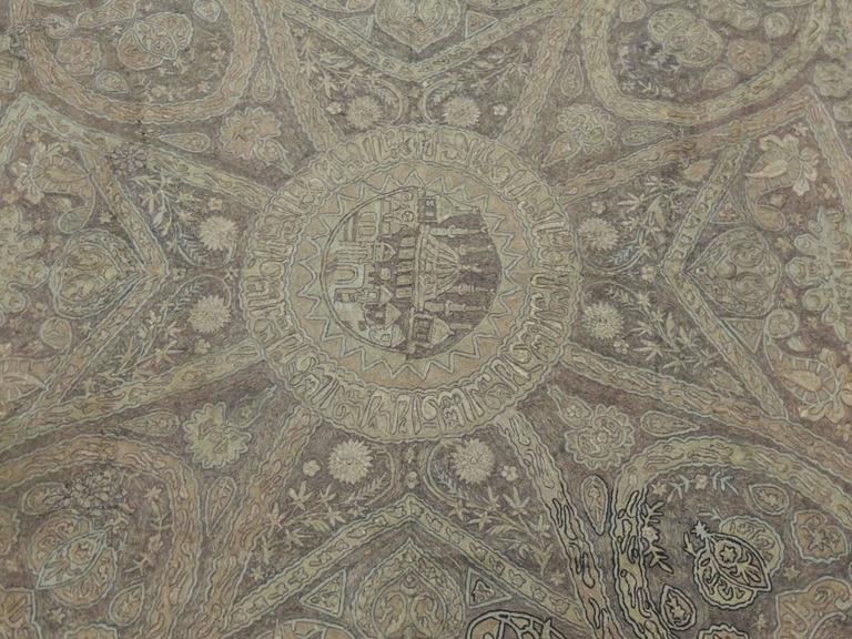 Turkish Ottoman Empire Metallic Embroidery Cloth In Good Condition For Sale In Fort Lauderdale, FL