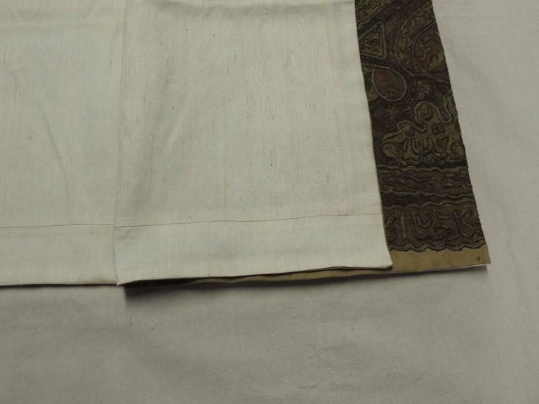 Turkish Ottoman Empire Metallic Embroidery Cloth For Sale 1