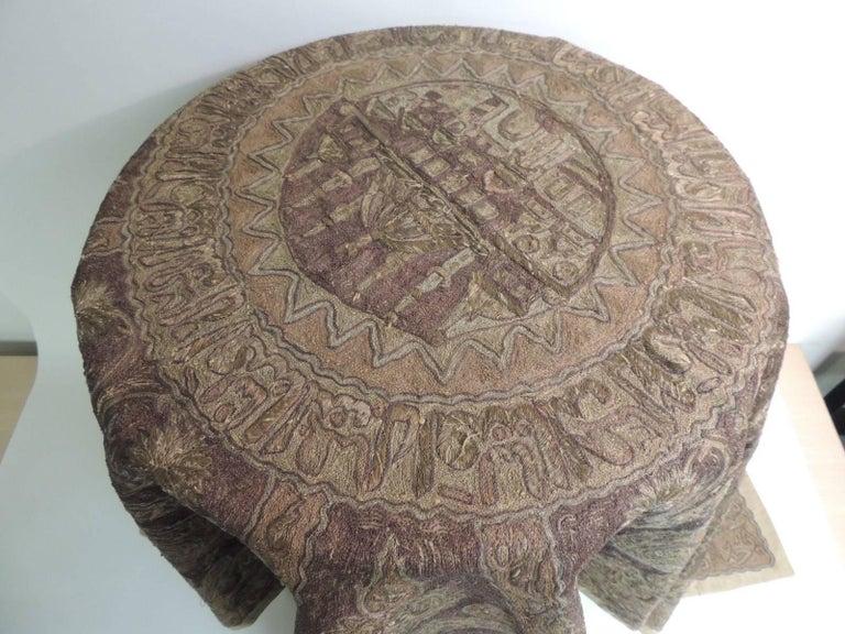 19th Century Turkish Ottoman Empire Metallic Embroidery Cloth For Sale