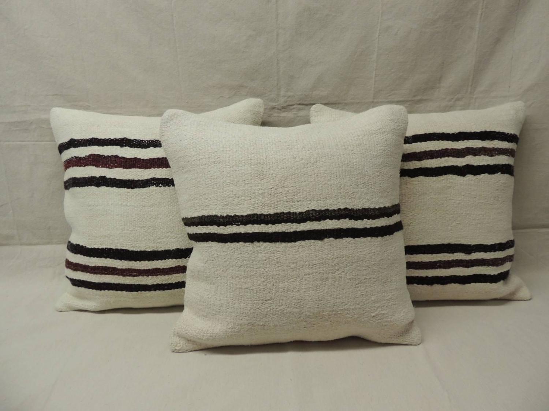 Modern Pattern Vintage Kilim Pillows For Sale at 1stdibs