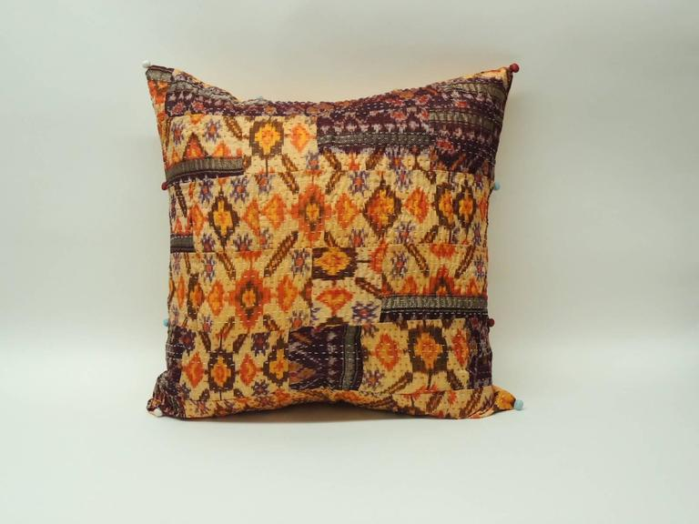 Set of Two Modern Indian Silk Pillows at 1stdibs