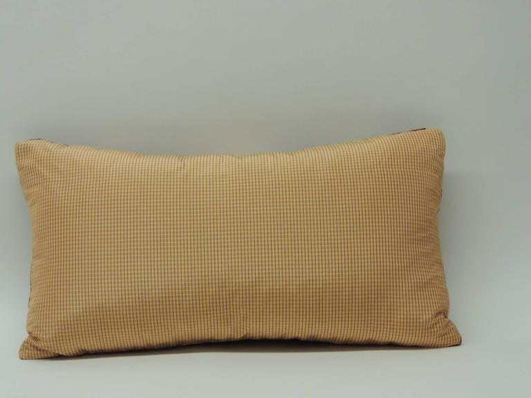 Cotton Velvet Decorative Pillows : Vintage Art Nouveau Style Cotton Velvet Bolster Decorative Pillow For Sale at 1stdibs