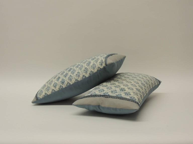 Pair Of 40s Italian Blue And White Fortuny Lumbar Decorative Adorable Italian Decorative Pillows