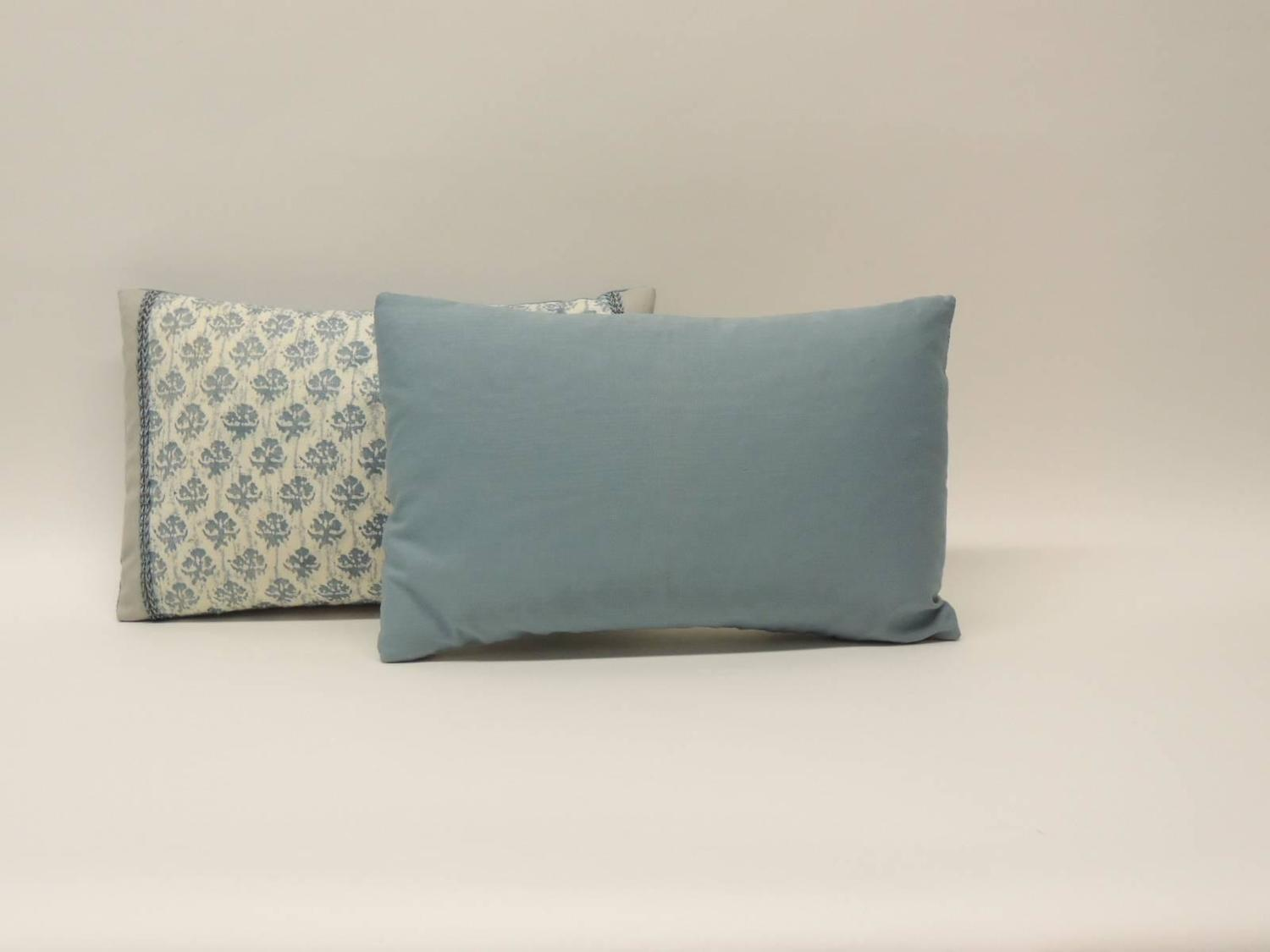 blue and white fortuny lumbar decorative pillows for sale at 1stdibs