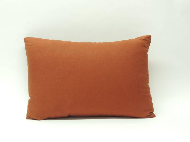 Vintage Mid-Century Modern Knoll Multi-Color Textile Decorative Pillow For Sale at 1stdibs