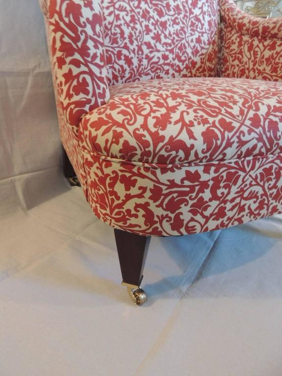 Classic George Smith Upholstered Armchair in India Flower ...