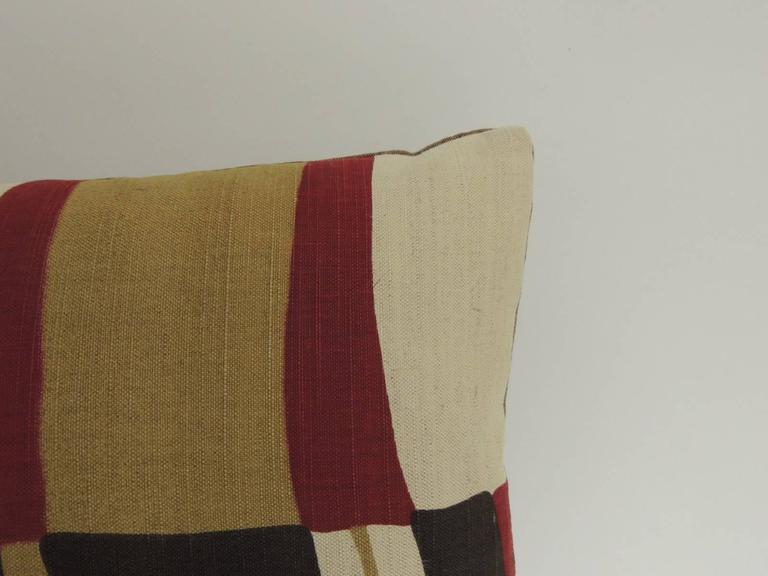 Mid-Century Modern Colorful Bolster Vintage Decorative Pillow at 1stdibs