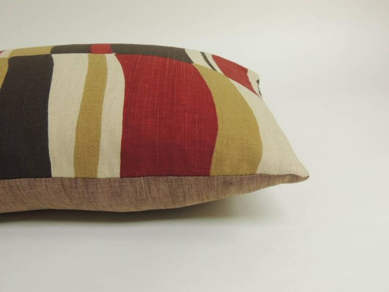Mid Century Style Pillows : Mid-Century Modern Colorful Bolster Vintage Decorative Pillow at 1stdibs