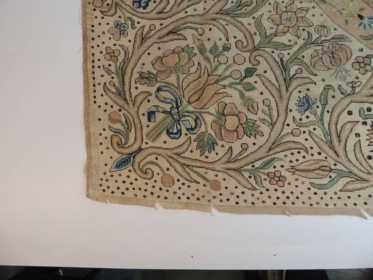 17th Century English Embroidery Needlework Tapestry A T G