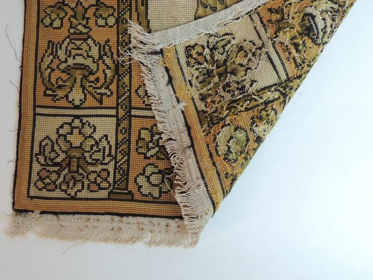 Hand-Crafted 19th Century Medieval Theme Yellow and Gold Tapestry For Sale