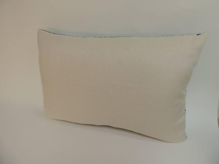 19th Century Blue and White ?Ndop? African Woven Decorative Bolster Pillow at 1stdibs