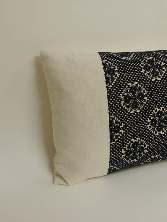 Decorative Bolster Pillow Black : 19th Century Black and Natural Fez Embroidery Textile Decorative Bolster Pillows For Sale at 1stdibs