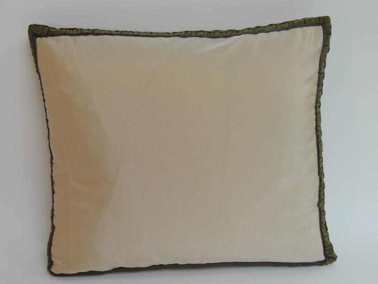 19th Century French Petite Aubusson Tapestry Decorative Pillow In Good Condition For Sale In Oakland Park, FL