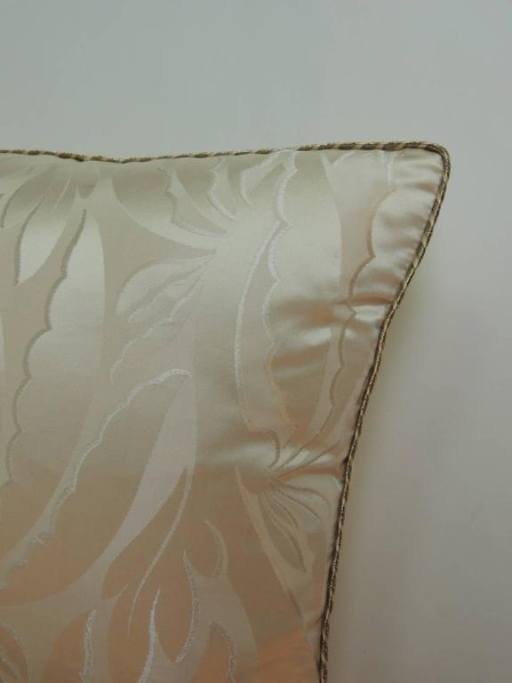 Hand-Crafted 19th Century French Silk Deco Decorative Lumbar Pillow For Sale
