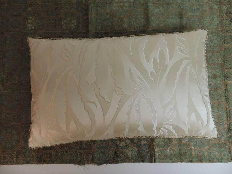 Cord 19th Century French Silk Deco Decorative Lumbar Pillow For Sale