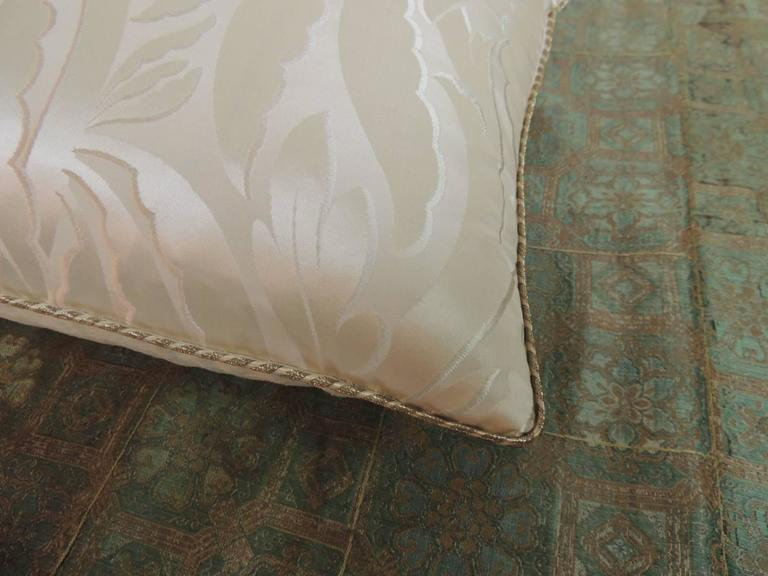 Art Deco 19th Century French Silk Deco Decorative Lumbar Pillow For Sale