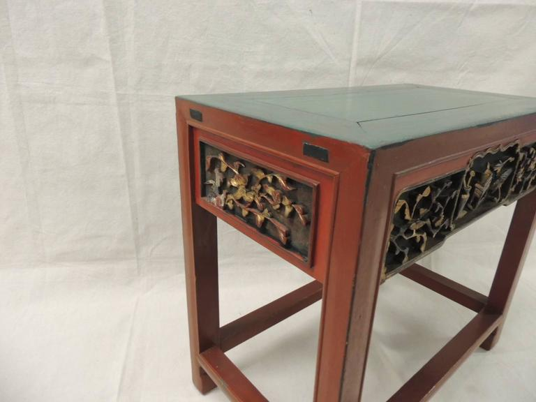 Attrayant Offered By The Antique Textiles Galleries: Red Wood Chinese Lacquered Side  Table. Red Lacquer