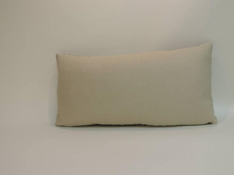 Decorative Pillows Long : Antique Hand-Blocked Indian Floral Pattern Long Bolster Decorative Pillow at 1stdibs