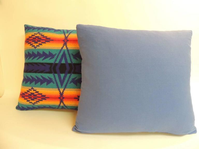 Pair Of Vintage Pendleton Southwest Style Large Decorative Pillows Awesome Huge Decorative Pillows