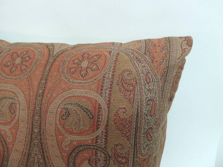 Pair Of 19th Century Kashmir Woven Paisley Decorative