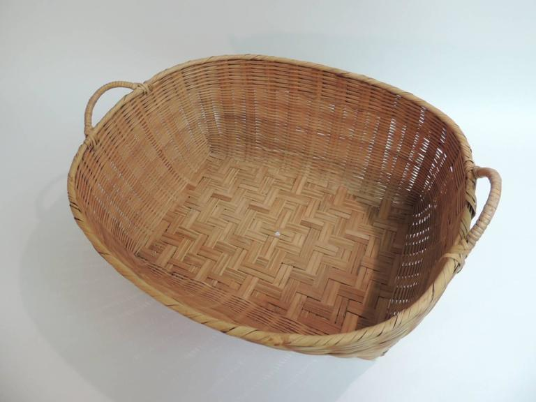 pair of small decorative flat wire baskets at 1stdibs.htm american country oval large wicker woven basket at 1stdibs  country oval large wicker woven basket