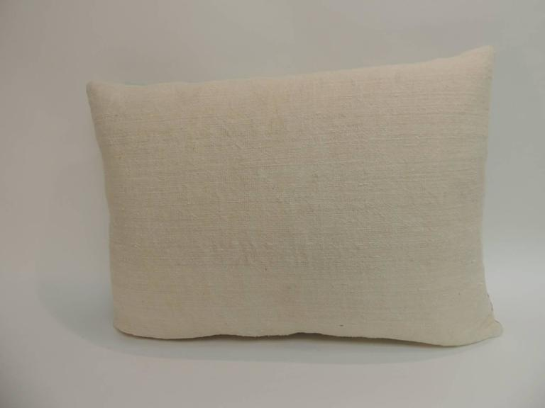 HOLIDAY SALE: Antique Coverlet Americana Woven Decorative Pillow In Good Condition For Sale In Oakland Park, FL