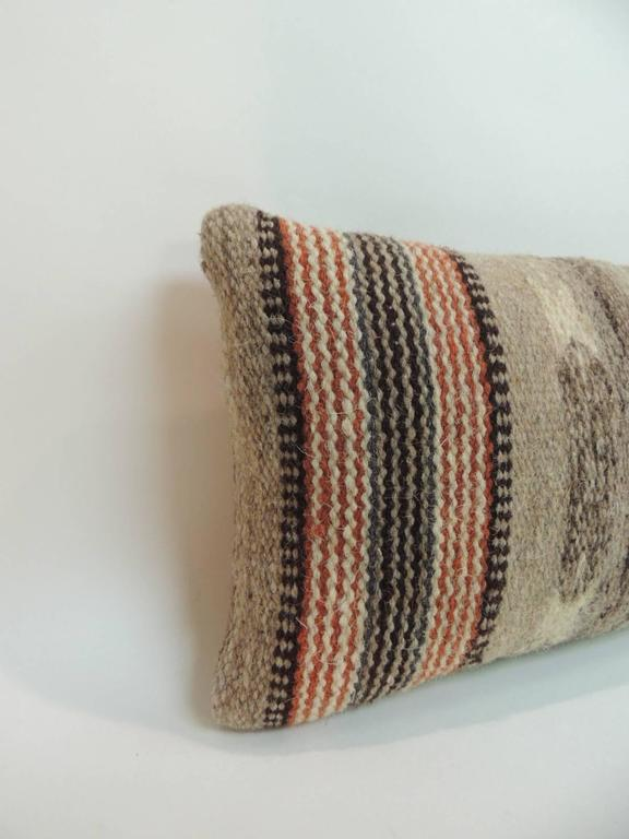 Vintage Southwestern Pillow : Vintage Petite Southwestern Woven Wool Decorative Lumbar Pillow For Sale at 1stdibs