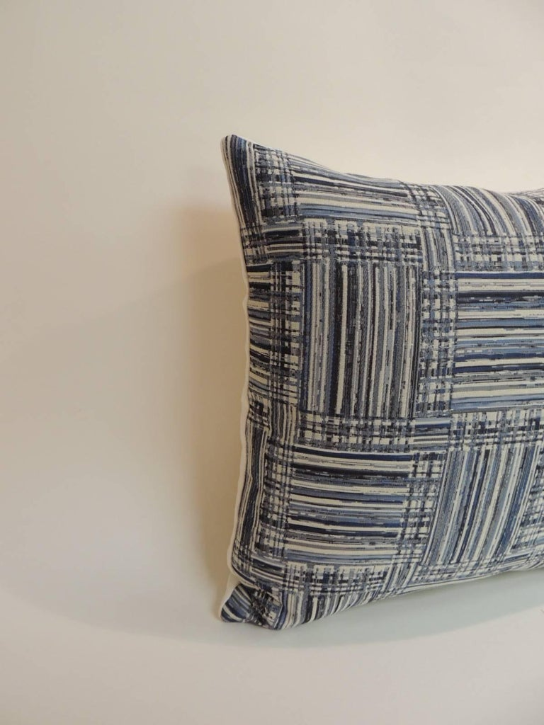 How To Make A Basket Weave Pillow : Pair of vintage blue and white basket weave decorative