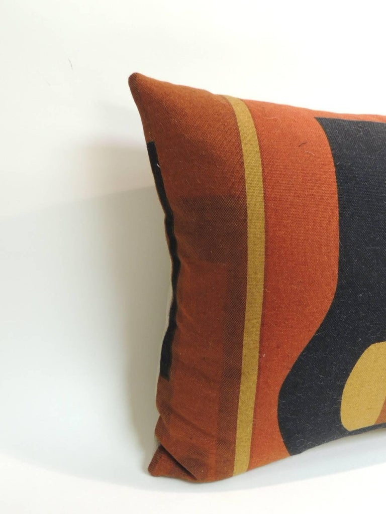The Modern Pillow : Vintage Mid-Century Modern Knoll Multi-Color Textile Decorative Pillow at 1stdibs