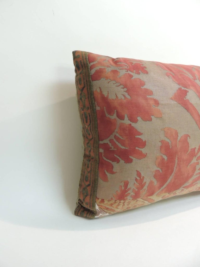 Decorative Pillows Vintage : Vintage Fortuny Patchwork Lumbar Decorative Pillow at 1stdibs