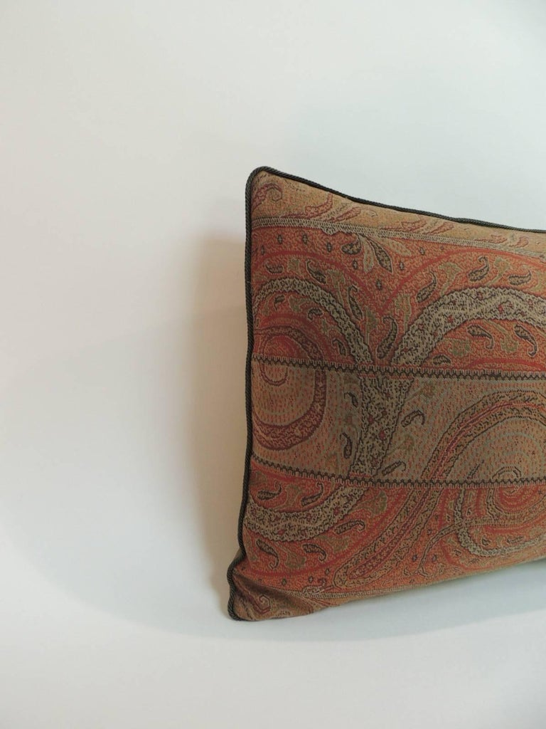 Vintage Decorative Pillow : Antique Kashmir Paisley Lumbar Decorative Pillow For Sale at 1stdibs