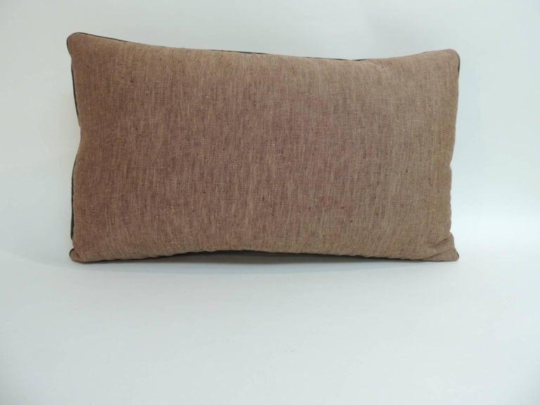 Indian Antique Kashmir Paisley Lumbar Decorative Pillow For Sale