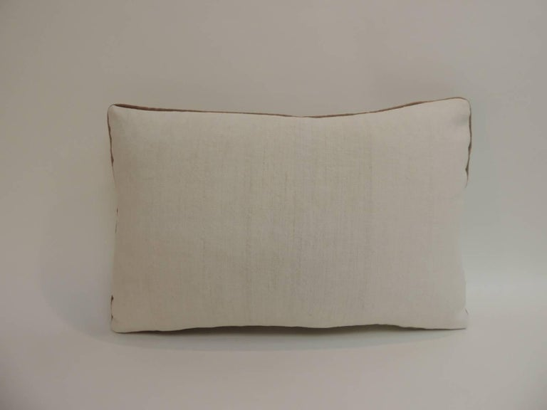Anglo Raj 19th Century Turkish Floral Embroidery Decorative Lumbar Pillow For Sale