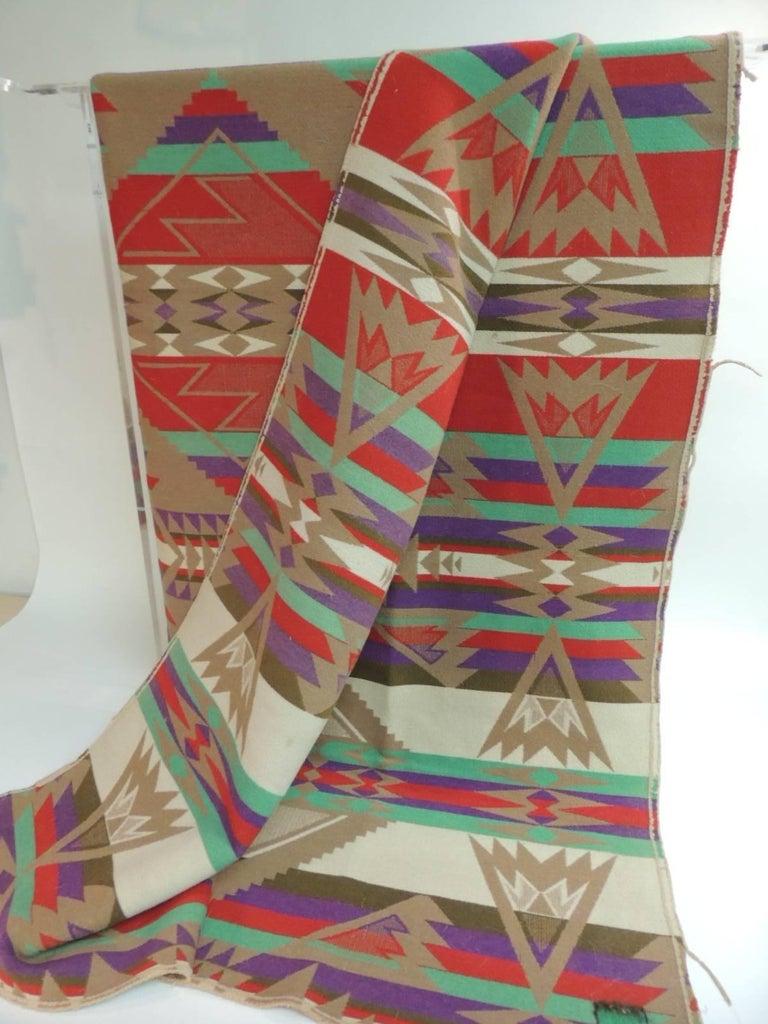 American Large Vintage Pendleton Wool Blanket Navajo Style For Sale