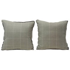 Pair of Vintage Loro Piana Cashmere Decorative Double-Sided Pillows