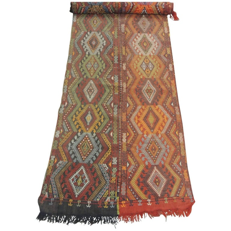19th Century Handwoven Wall Hanging Textile