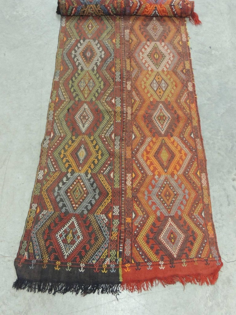 Turkish 19th Century Handwoven Wall Hanging Textile For Sale