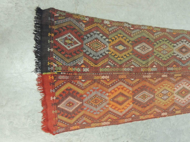 19th Century Handwoven Wall Hanging Textile 2