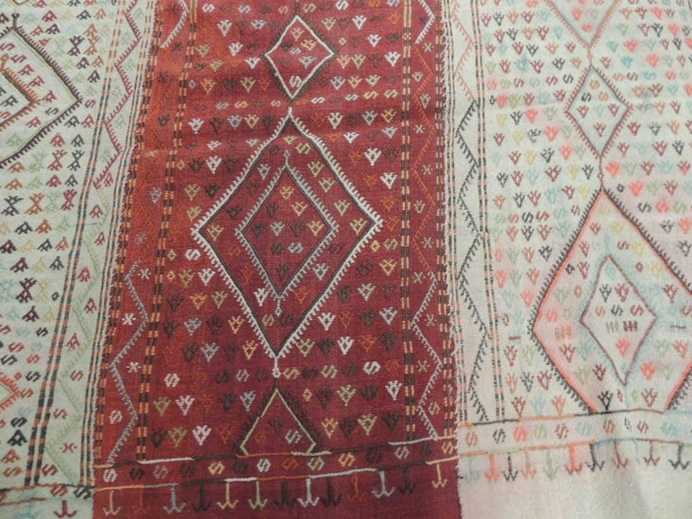 19th Century Large Hand Woven Wall Hanging Cicim Textile