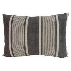 French Faded Indigo Stripes Bolster Decorative Pillow