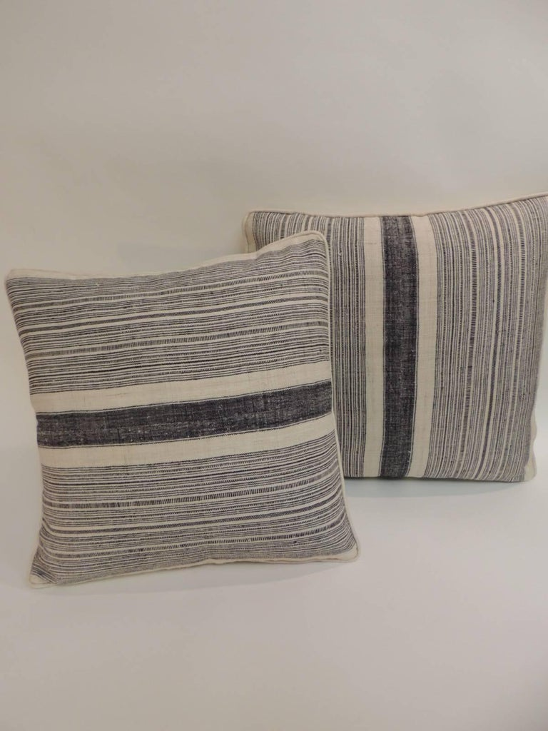 optical throw burlap pillows products in pillow weavers set woven with tweed webster front decorative flange of white