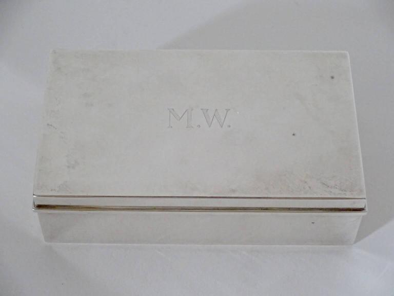 Tiffany & Co. Sterling Silver Cigarette Box In Good Condition For Sale In Hudson, NY
