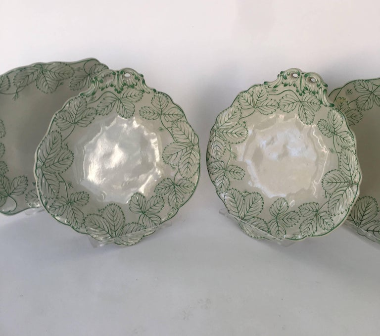 Victorian English Majolica Porcelain 19th Century Dessert Service For Sale