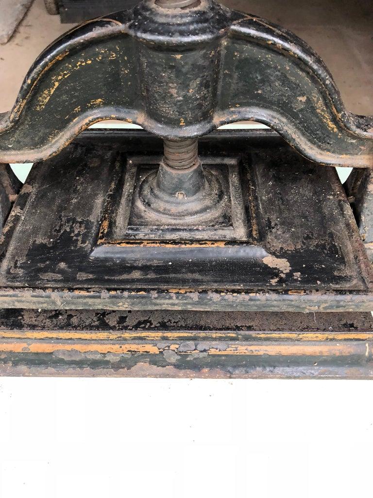 Aesthetic Movement Black Cast Iron Book Press, circa 1900 For Sale