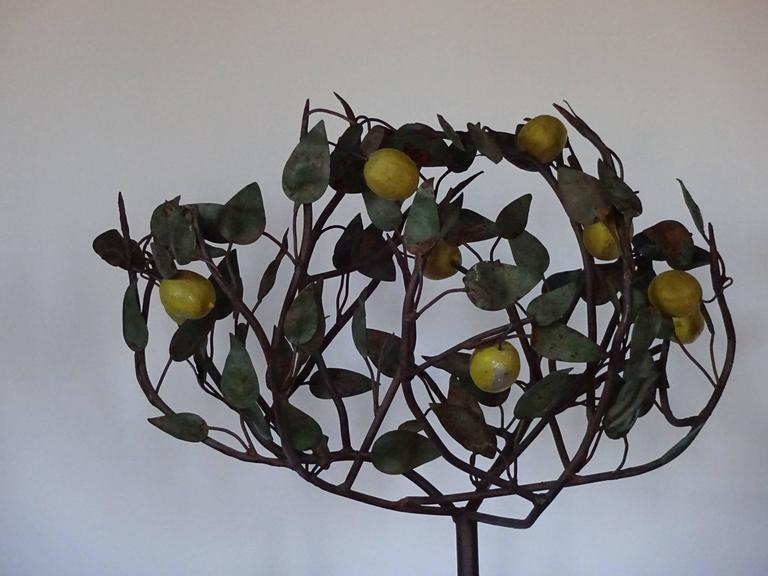 1940s Italian Tole Lemon Tree In Excellent Condition For Sale In Hudson, NY