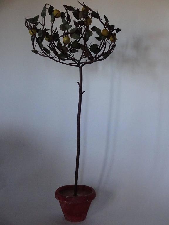 1940s Italian Tole Lemon Tree For Sale 2